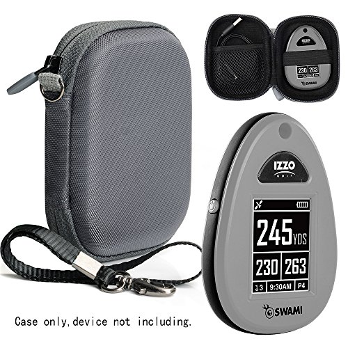 Hard EVA protectice case for Golf GPS by CaseSack, Specially Designed for IZZO Swami 4000+ Golf GPS, and Swami 4000, Swami 5000 Golf GPS Rangefinder; Garmin Approach G30, G6, G7 (Polyester Gray)