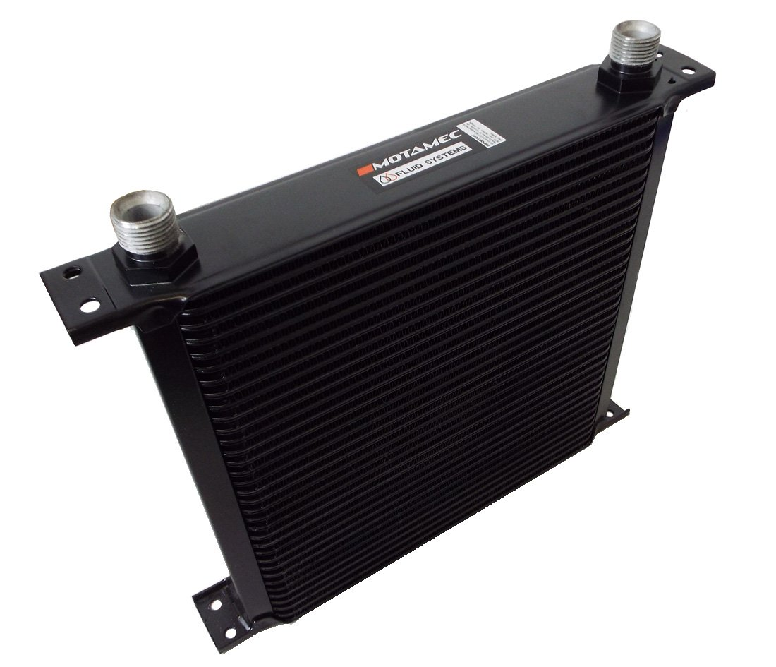 Motamec Oil Cooler 34 Row - 235mm Matrix - 5/8 BSP - Black Alloy