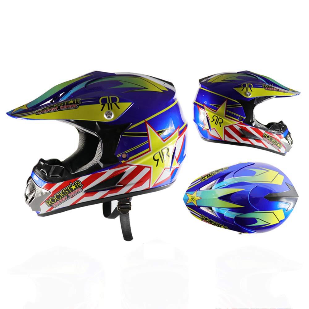 Klassischer Crosshelm ATV-Motocross//Rennrad//Offroad-Rennen,S ZDHG Motorradhelm,Motocross Helm,Neuer Professioneller Leichter Motocross-Helm
