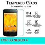 "M.G.R - Lg Nexus 4 (4.7"" Screen) (3D Touch Compatible - Tempered Glass) Screen Protector With (9H Hardness) (Premium Crystal Clarity) (Scratch-Resistant)"
