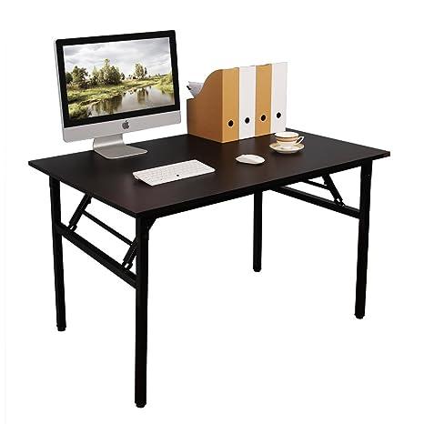 Need Mesa Plegable 100x60cm Mesa de Ordenador Escritorio de Oficina Mesa de Estudio Puesto de trabajo Mesas de Recepción Mesa de Formación, Negro ...