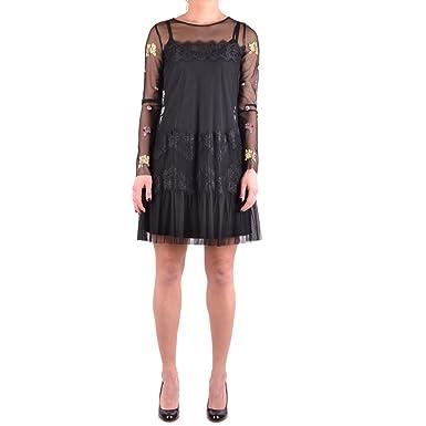 vero affare prezzo di strada outlet Twin-set Simona Barbieri Dress Black: Amazon.co.uk: Clothing