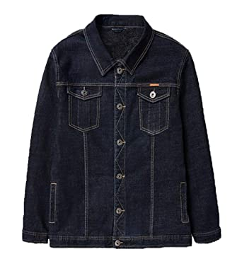 Herren Jeansjacke Denim Jacket Übergangsjacke mit Revers Klassischer Große  Größe Basic Oberbekleidung Vintage Jeans Jacke Lässig 42db9455f2