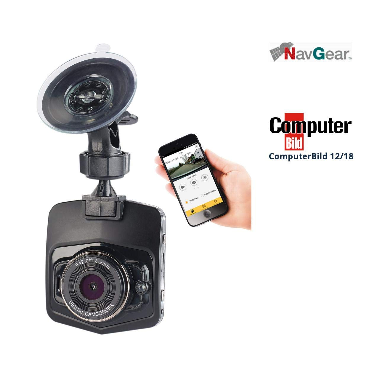 NavGear Dashcam 4K GPS: 4K-UHD-Dashcam mit G-Sensor, WLAN, Bewegungserkennung, 170° -Weitwinkel (Dashcams mit G Sensoren Ultra HD)