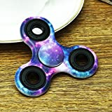 Upgraded Fidget Spinner, Hand Spinner Fidget Toy - Camouflage Starry Sky, Ultra Durable Tri-Spinner Not 3D-Printed for ADHD, ADD, Autism, and Killing Time
