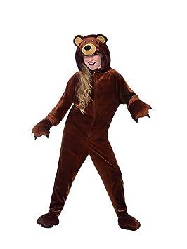 Halloweenia – Disfraz de niño Chica Niños Oso marrón Oso DE ...