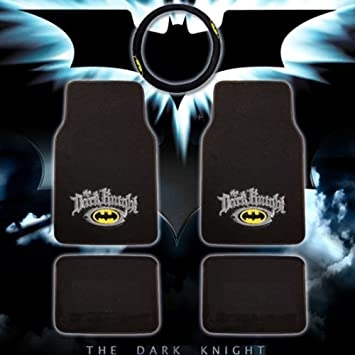 New Batman The Dark Knight Logo Car Truck Front Back Carpet Floor Mats Set