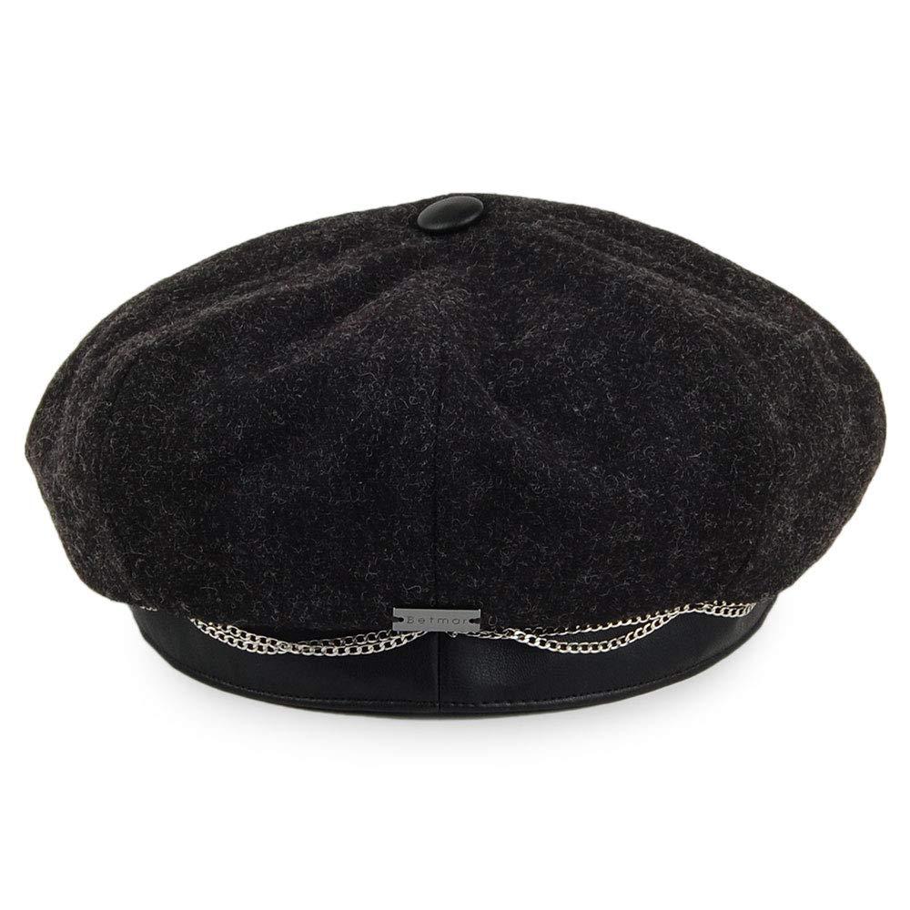 Betmar Hats Clara Baker Boy Hat Black