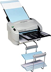 """Martin Yale P7400 RapidFold Automatic Feed Desktop Folder, Feed Tray Holds up to 50 Sheets of Paper, Folds 8 1/2"""" x 11"""" and 8 1/2"""" x 14"""", Folds up to 3 Sheets"""