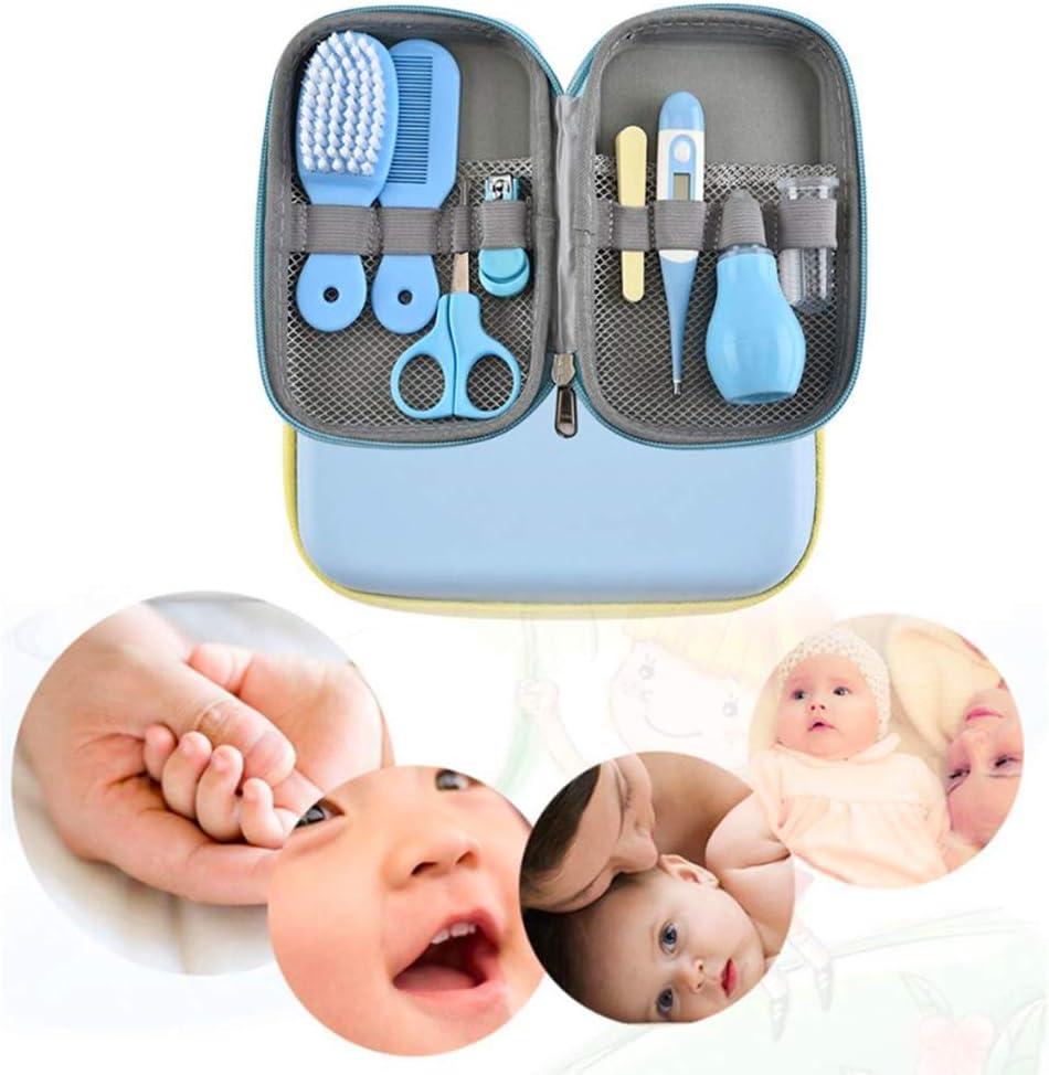 Joyeee Set per la Cura del Bambino Baby Kit per la Cura del Beb/è da Casa e Viaggio con Bellezza per Neonato Pettine Spazzolino da Denti Massaggiagengive Molar Sticks Tagliaunghie