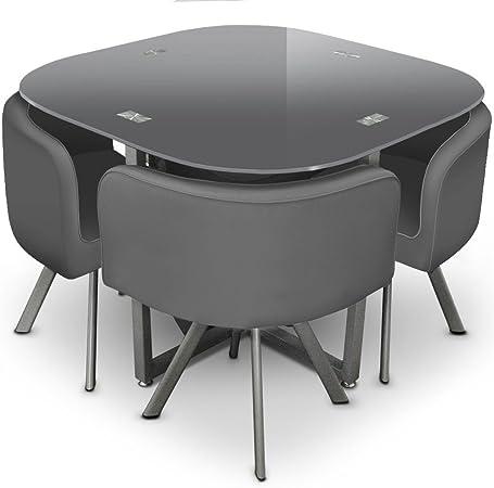 Table Et Chaises Mosaic 90 Gris Amazon Fr Cuisine Maison