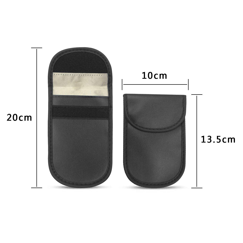 2/Pack/Keyless/Go/Schutz/Autoschl/üssel,/Signal/Blocker/Tasche/Funkschl/üssel/Abschirmung,/Strahlenschutz/Beutel/RFID/Signalblockierung/H/ülle/f/ür/NFC//WLA