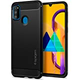 Spigen Rugged Armor Designed for Samsung Galaxy M30s - Matte Black