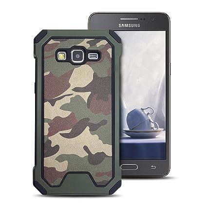 MOEVN Armor Funda para Samsung Grand Prime, Galaxy Grand Prime Carcasa Camuflaje PC + TPU 2 en 1 Silicone Cover Protección Duro Caso Choque ...