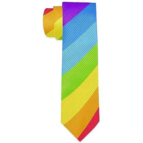 Rainbow Gay Pride Corbatas de seda para hombres Corbata Jacquard ...