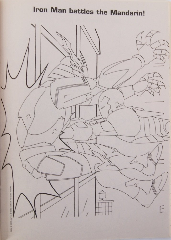 Bendon Iron Man Armored Adventures Coloring Book with Stickers