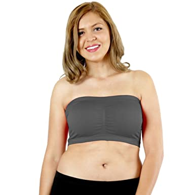 d9b2dfed859 LAVRA Women s Plus Size Padded Strapless Bra Bandeau at Amazon Women s  Clothing store
