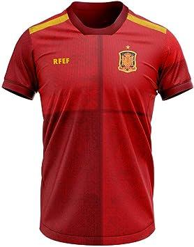 Camiseta réplica oficial de la primera equipación de la selección española en la Euro 2020.: Amazon.es: Deportes y aire libre