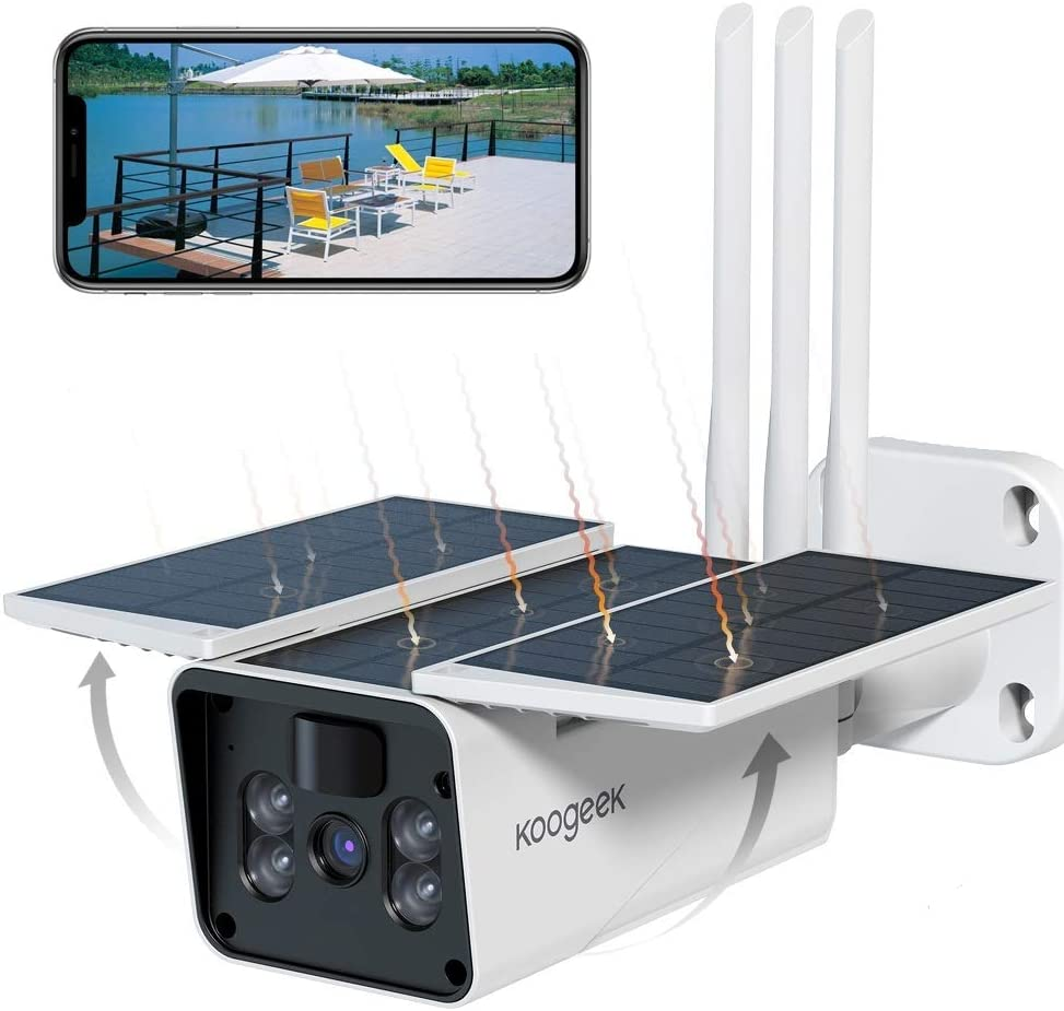 Koogeek Camara Vigilancia WiFi Exterior IP67,Camara de Vigilancia Exterior 1080P,/Ángulo de Visi/ón Amplio de 120/°,Sin Cable,Detecci/ón de Movimiento,Alarma en Tiempo Real,Camara de Vigilancia Exterior