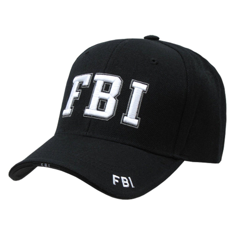 FBI Federal Bureau Investigation adjustable baseball cap black   white at  Amazon Men s Clothing store  4e5187983af