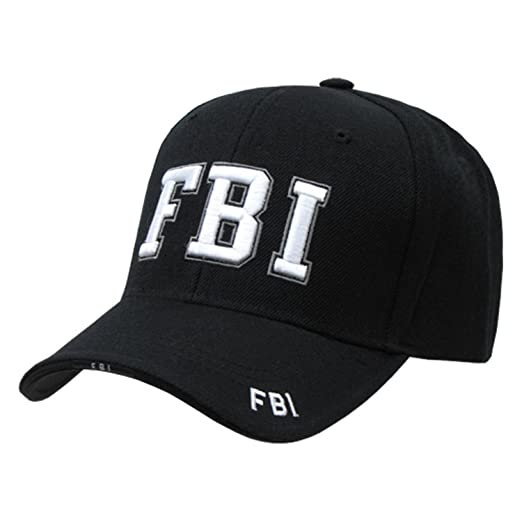 FBI Federal Bureau Investigation adjustable baseball cap black   white at  Amazon Men s Clothing store  f403a8be533