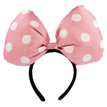 Image Unavailable. Image not available for. Color  Disney Parks Minnie  Mouse Pink White Polka Dots Oversize Bow Headband 0b017bbf1ef7