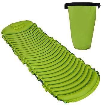 Colchón hinchable ligero para dormir, portátil, ecológico, impermeable, apto para saco de