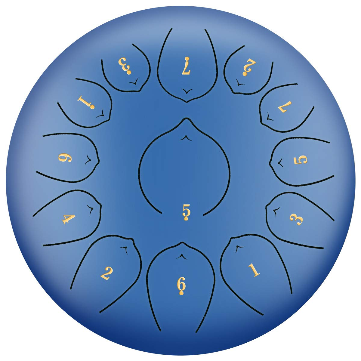 LLC - Drums Steel Tongue Drum 13 Notes 12 Inch/30cm Chakra Drum, for Camping, Yoga, Meditation, Music Therapy, Padded Travel Bag, Mallets, Tonic Sticker,Blue by LLC - Drums