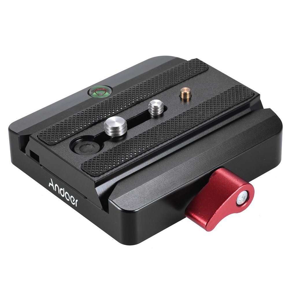Andoer Rapid Connect Adapter with Quick Release Sliding Plate for Manfrotto Tripod 577 Replacement