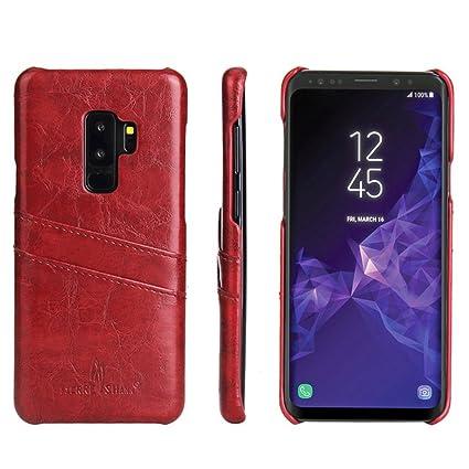 pour Samsung Galaxy S9 Coque Vintage Housse en Cuir Wallet Card Coque Huile  Cire Coque Galaxy 0177366c83b
