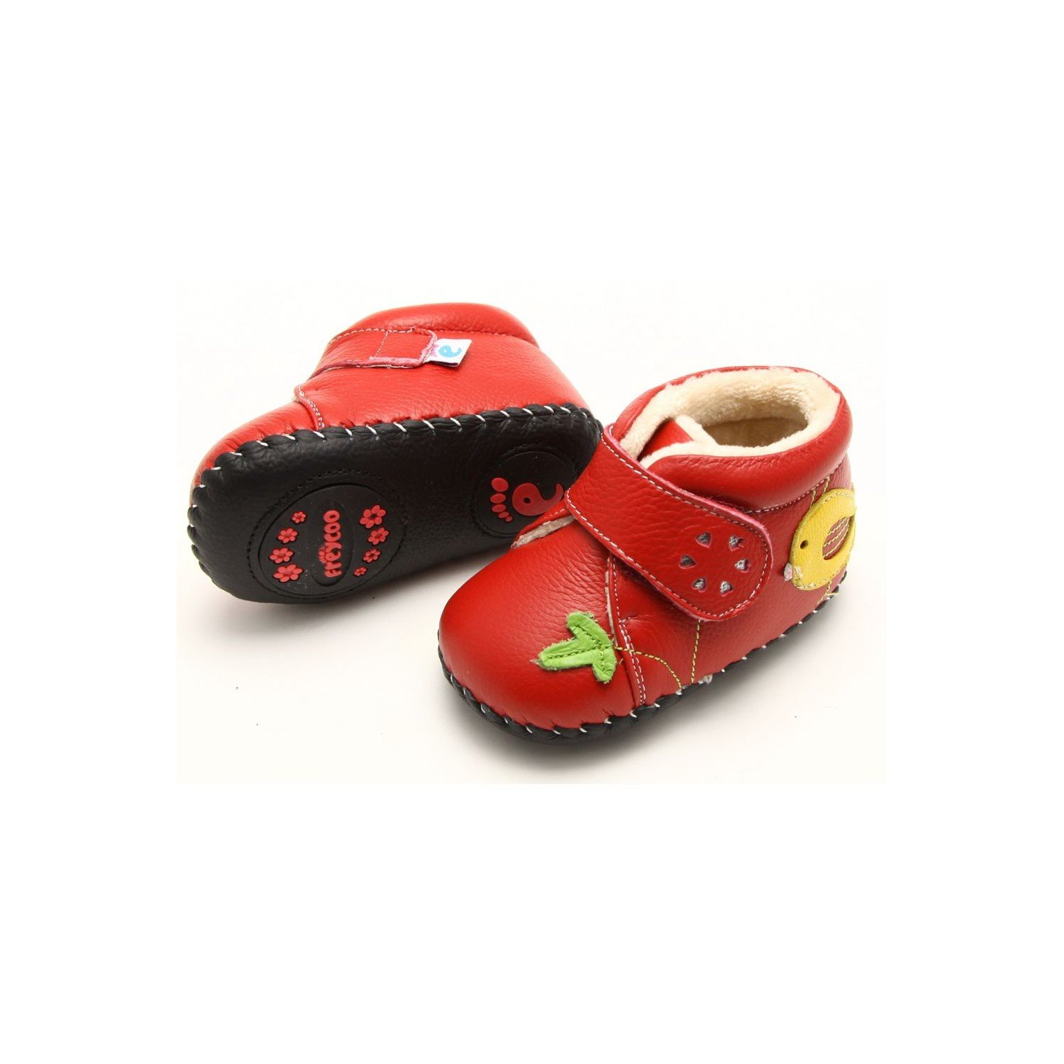 cd7969436 FREYCOO - Baby girls first steps soft leather shoes