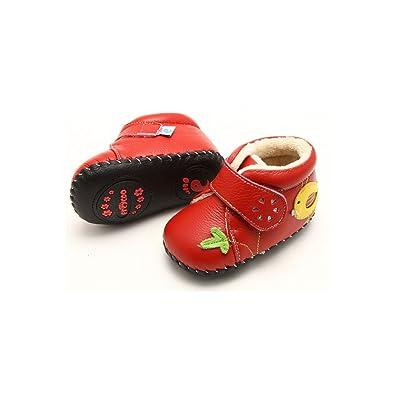 0402a1e7f3303 FREYCOO - Chaussures premiers pas cuir souple fille