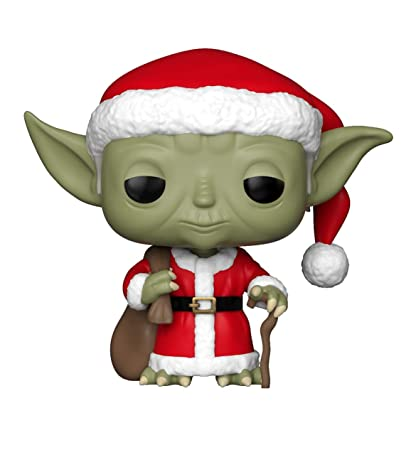 funko pop star wars holiday santa yoda collectible figure multicolor