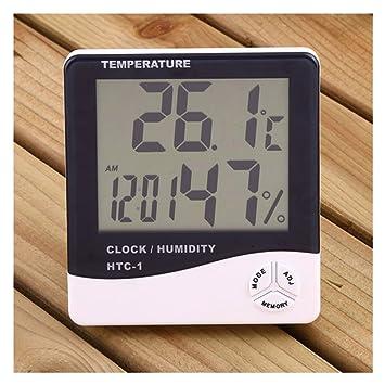 Fut pantalla LCD termómetro humedad interior de la gran ...