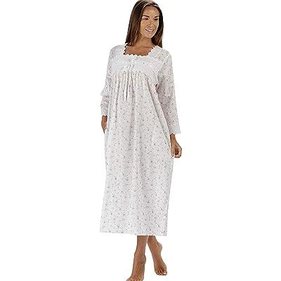 100% Cotton Camisón - Mujer Victoriano 3/4 Longitud de la Manga Camisón Laura: Ropa y accesorios