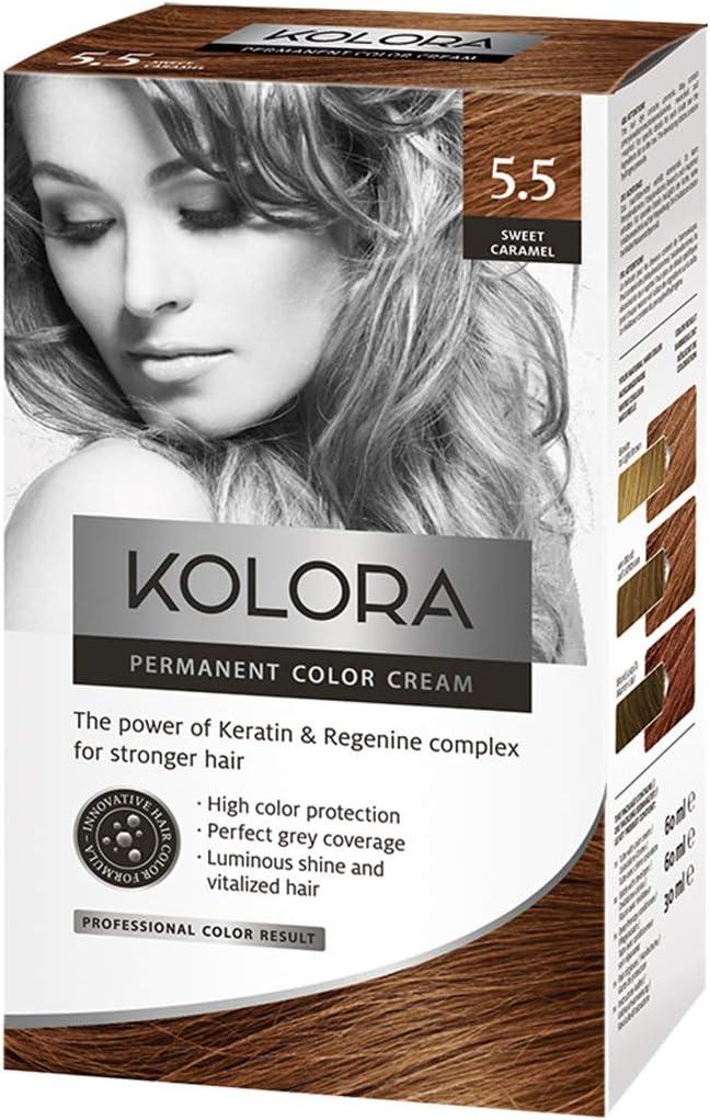 AROMA Tinte para el cabello 5.Kolora Sweet Caramel 60 ml1 ...