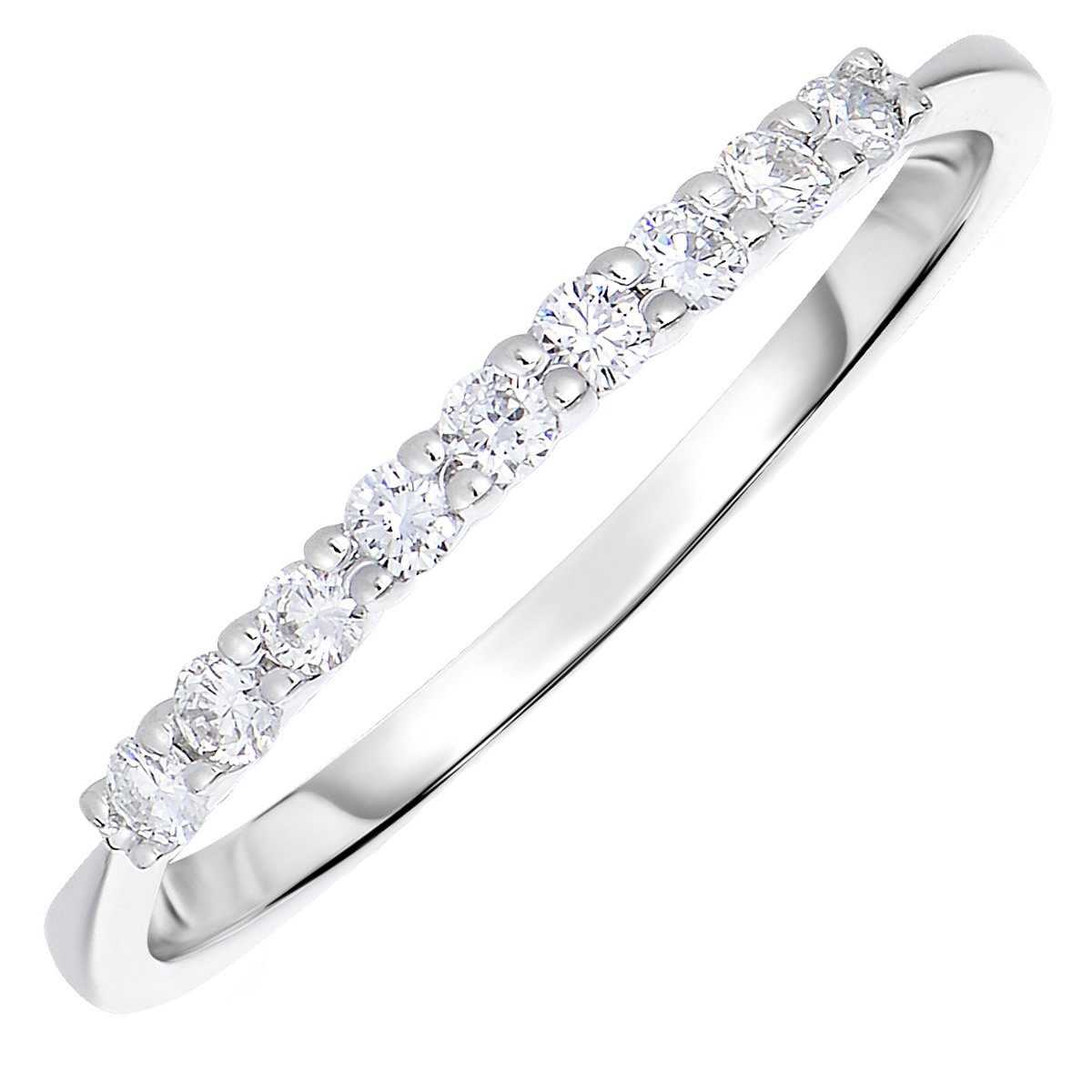 1/5 CT Petite Diamond Wedding Band 14K Gold Size 7