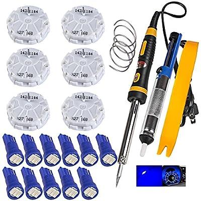 1voi GMC GM Gauge Instrument Cluster REPAIR KIT 6 Stepper Motor,Tool,11 Blue Led Bulbs x27 168: Automotive