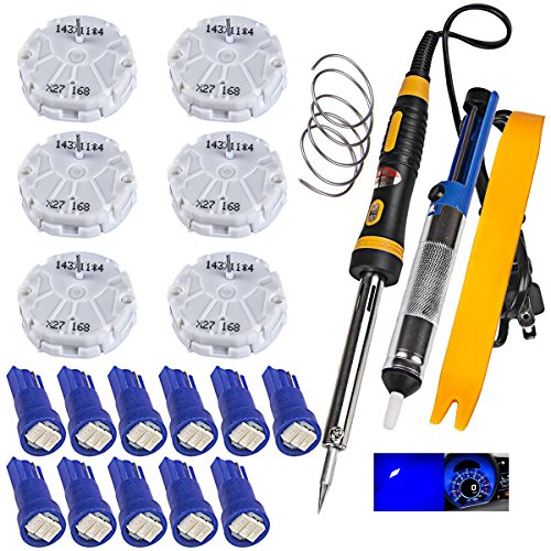 1voi GMC GM Gauge Instrument Cluster REPAIR KIT 6 Stepper Motor,Tool,11 Blue Led Bulbs x27 168 - Gmc Gauge
