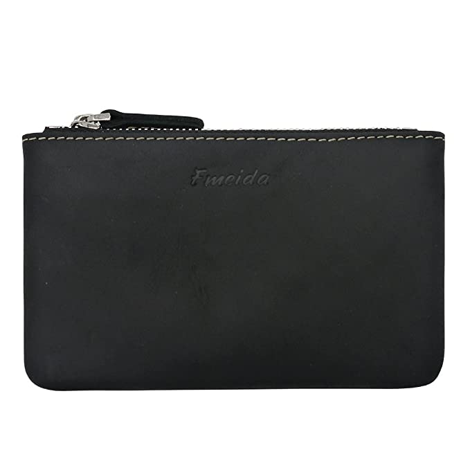 new style uk cheap sale diverse styles Coin Purse Pouch Fmeida Men's Leather Zipper Change Holder Slim Wallet