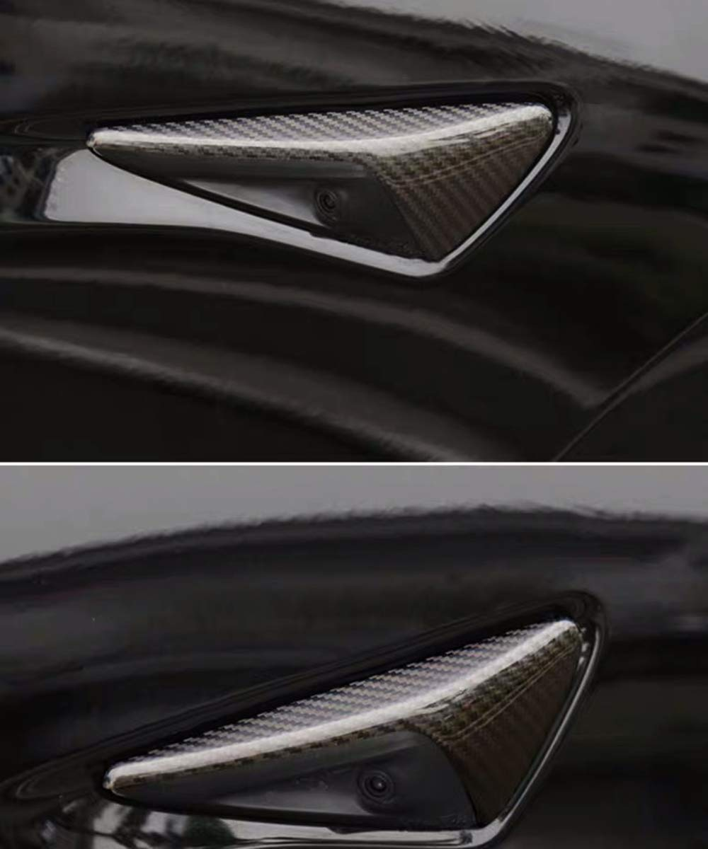 Pikki for Tesla Model 3 S X Carbon Fiber Side Markers Turn Signal Covers