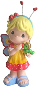 Precious Moments Design International Group Butterfly Fairy with Caterpillar Statue, 12-Inch