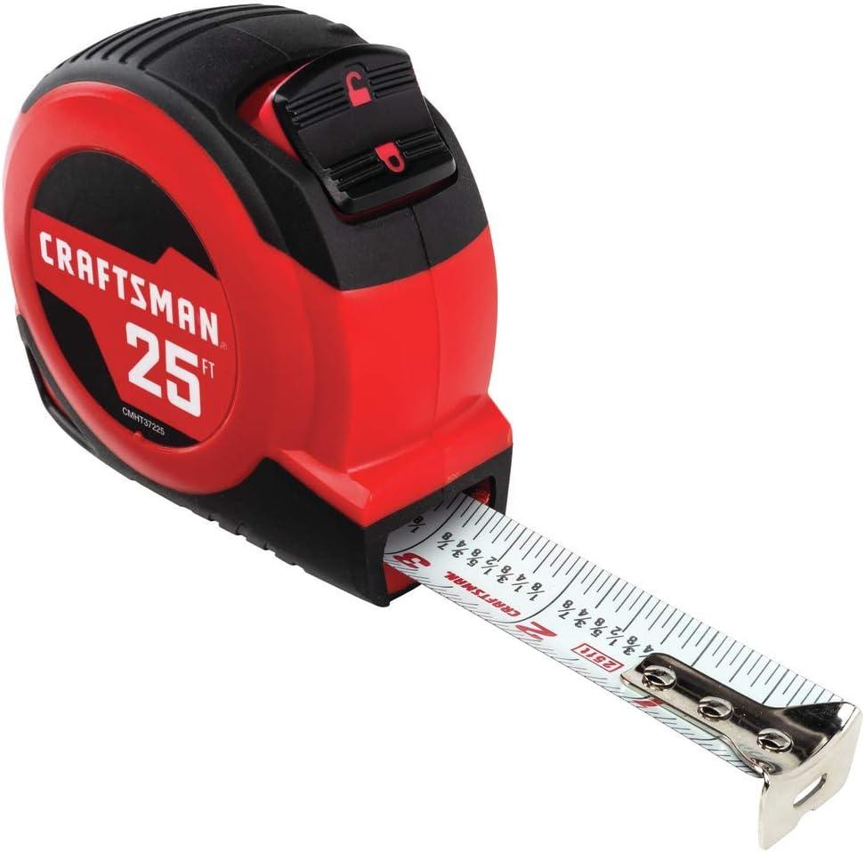 CRAFTSMAN Tape Measure, Self-Lock, 25-Foot (CMHT37225S)