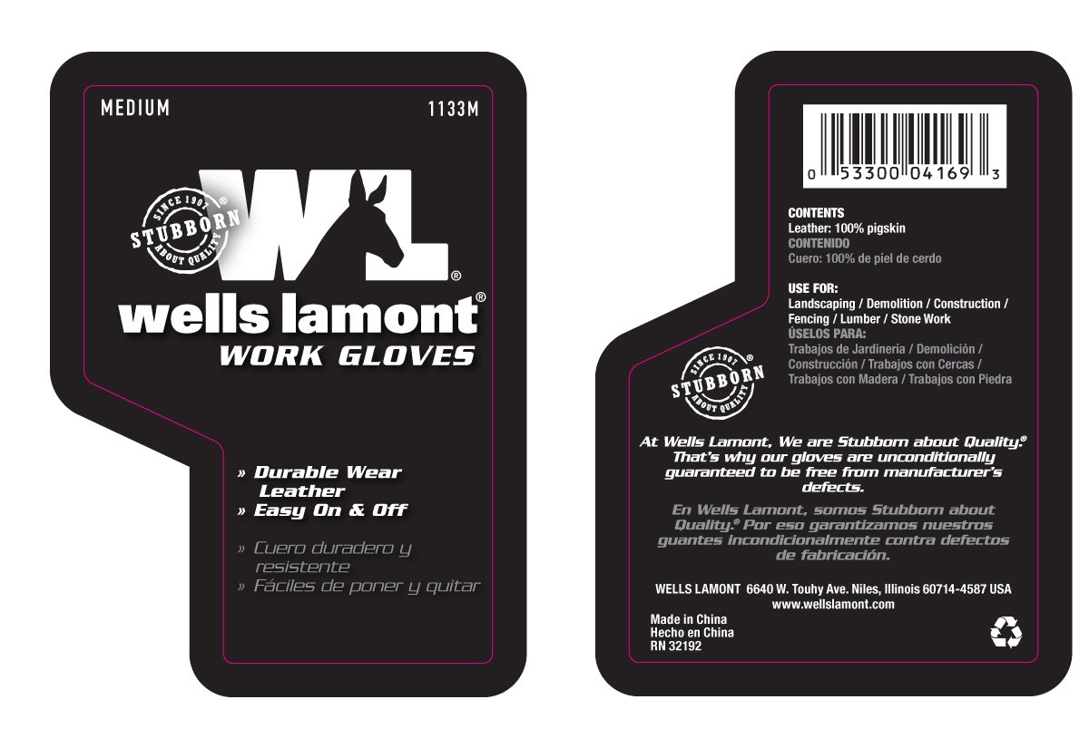 Leather work gloves china - Wells Lamont Leather Work Gloves Grain Large 1133l Leather Working Gloves Amazon Com