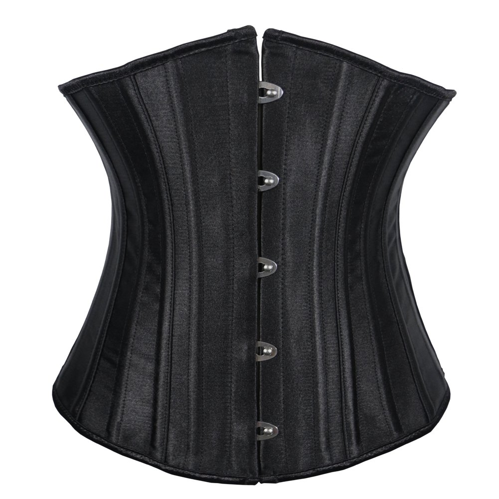 Women's Satin Underbust Waist Cincher Steel Boned Corset Top