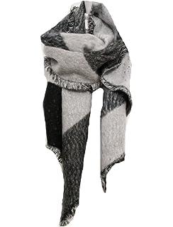 add868482161 Hengsong Femmes Epais Chaude Foulards Tempérament de Laine Couleur  Stitching Grand Châle