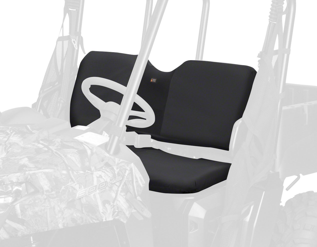 Classic Accessories Black UTV Bench Seat Cover - Four Wheeler Accessories for Polaris Ranger (18-158-010401-RT)