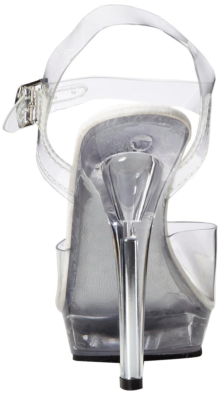 Pleaser Women's Lip-108 Sandal B00126B0FA 7 B(M) US|Clear