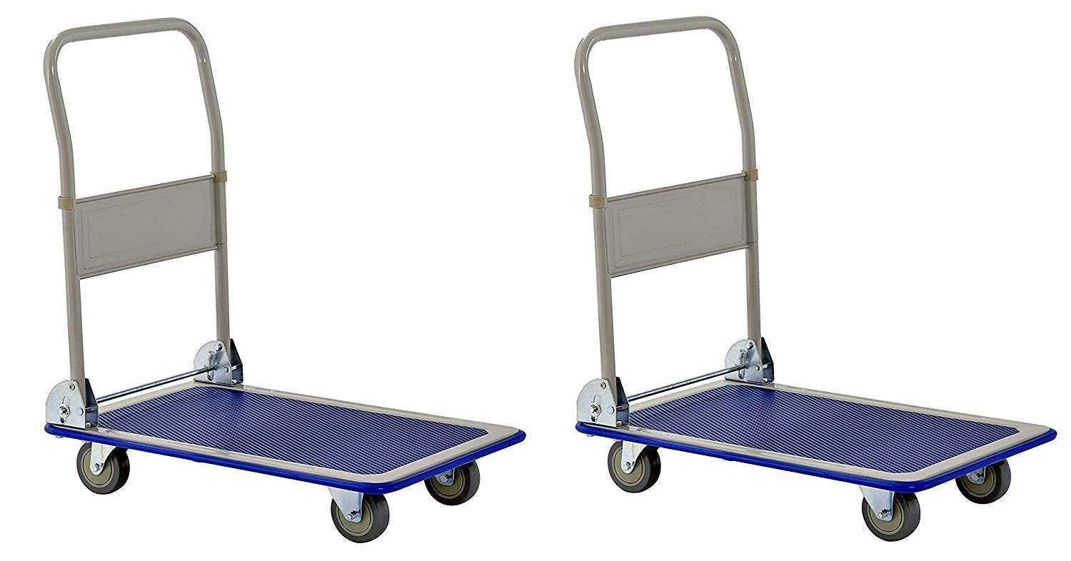 Muscle Rack FPC2918 Heavy Duty 330 lb. Capacity Folding Platform Cart, 11'' Height, 18'' Width, 29'' Length, 330 Pounds Load Capacity (Pack of 2)