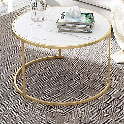 De alta calidad mesa de centro de marmol, mesa auxiliar mesa de centro redonda mesa de sofa moderno de laton, metal escritorio marco de piso-hogar portatil pequena mesa, sala de estar, comedor,S
